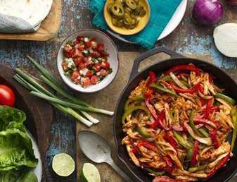 Barbecue Chicken Fajitas