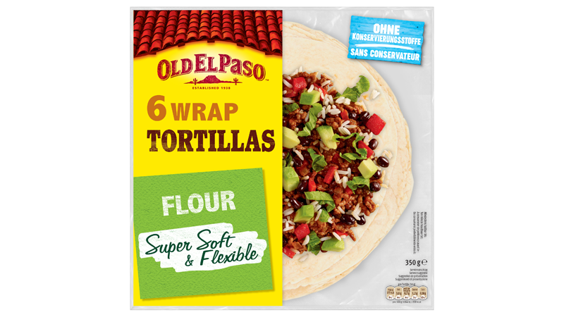 Six Wrap Tortillas Flour Super Soft