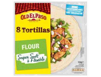 Eight Tortillas Flour Super Soft