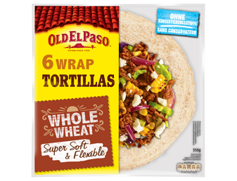Six Wrap Tortillas Whole Wheat Super Soft Card